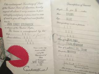 Steinbeck's Passport