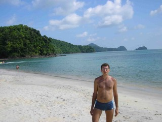 южный край пляжа Cenang