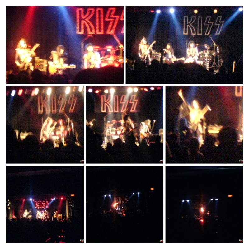 Collage of KIss tribute act Dressed to Kill