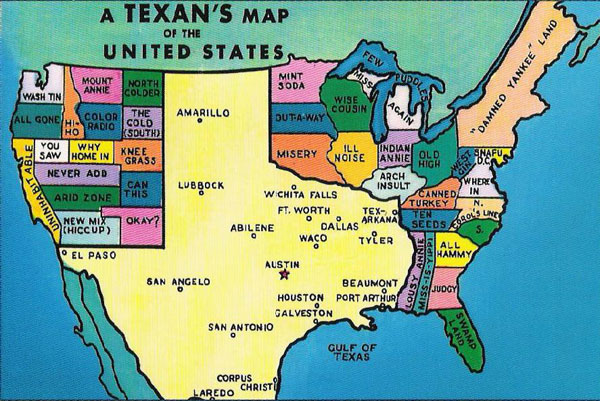 Texan's Map of the United States