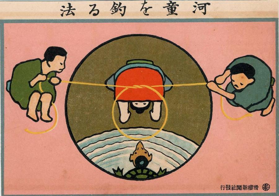 Kappa o tsuru hoho (Komeno Hakusui)