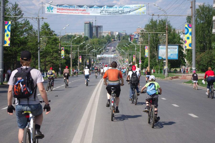 Велопарад на ул Пушкинская