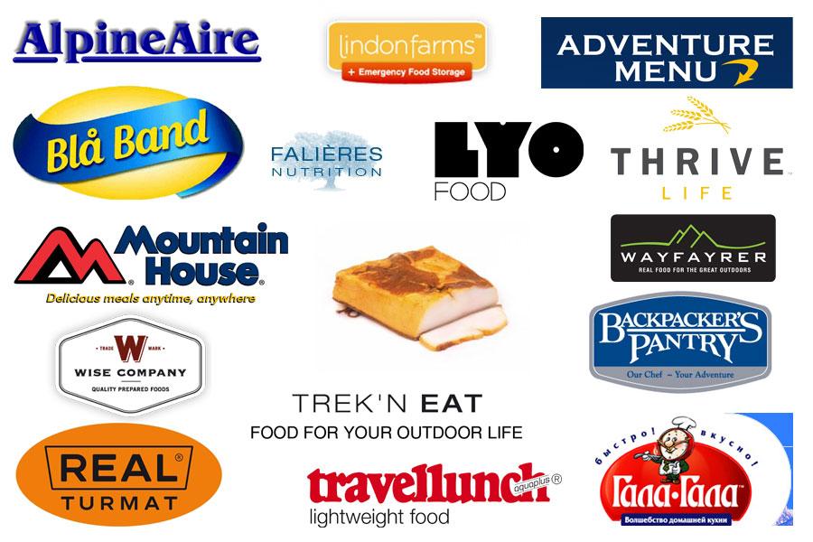 Логотипы производителей быстрой еды