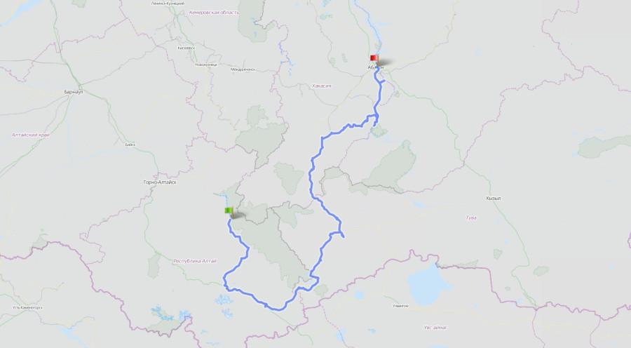 Трек маршрута