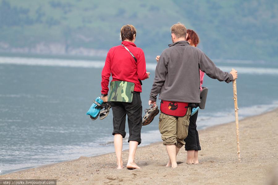 Туристы на Телецком