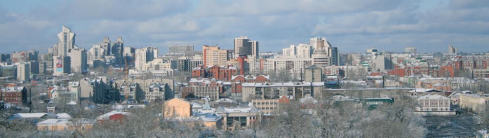 Вид на центр города с нагорной части Барнаула