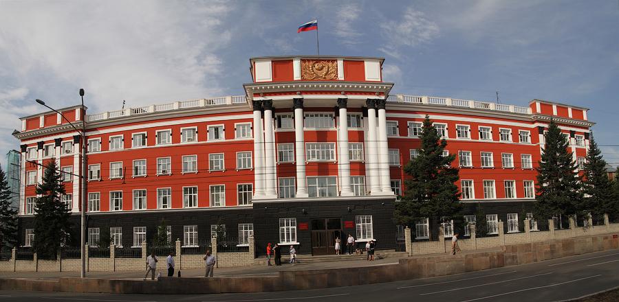 Советская застройка города. Здание Краевого суда.