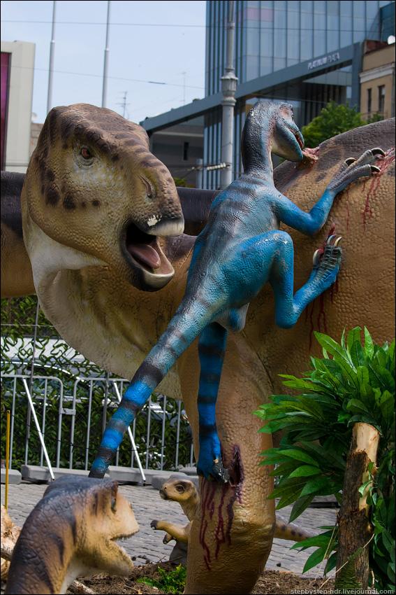 Динозавры в городе
