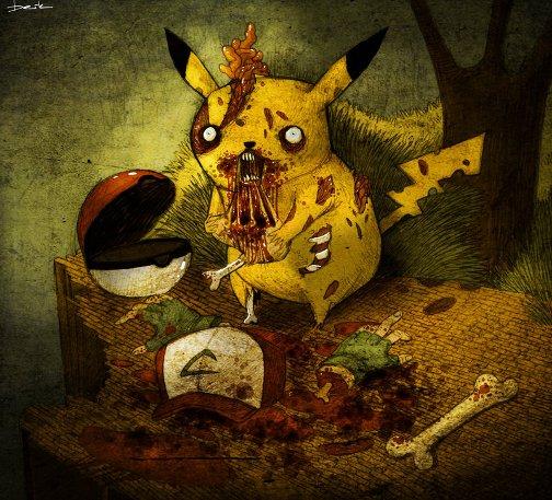 Копия zombie_pikachu_by_berkozturk-d2uhmbt