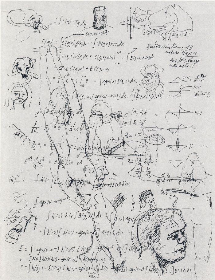 Творчество физика Richard Feynman - Equations and Sketches (1985)