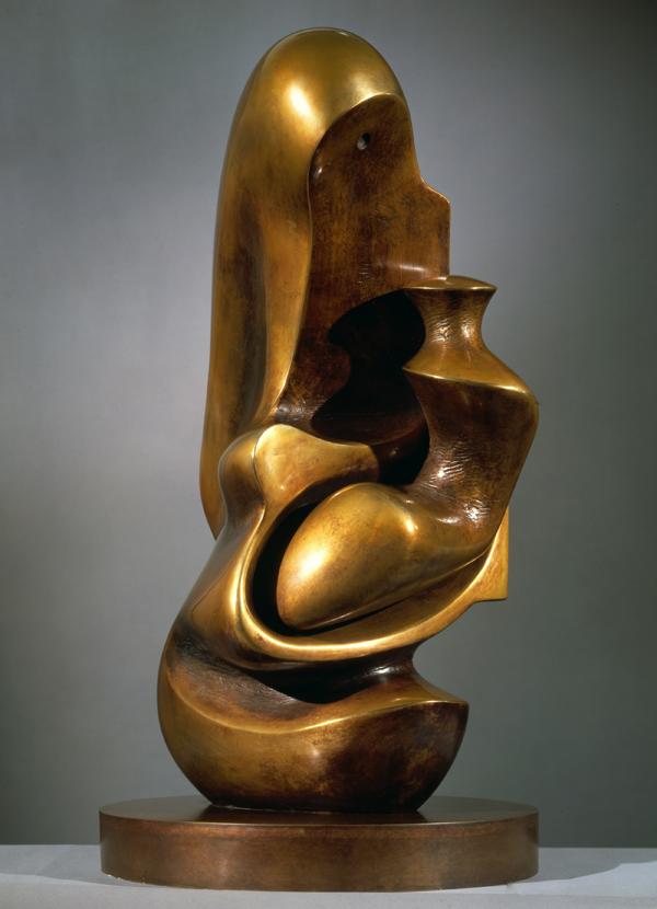 Мать и дитя (Капюшон).  Рабочая модель. 1982 г. Бронза, 9 отливок + 1 экземпляр