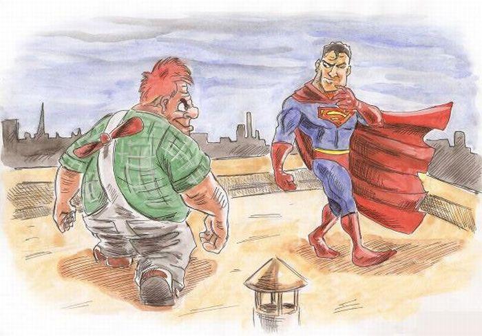 Карлсон против Супермена