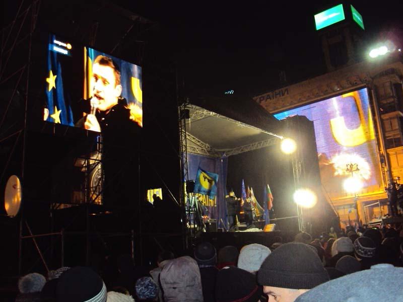 Майдан 06-12-2013 Кличко выступает