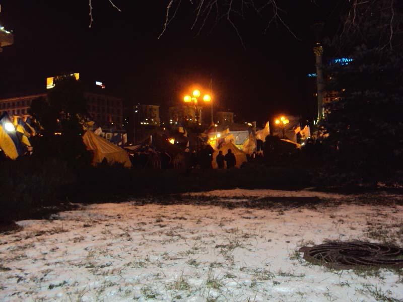 Майдан 06-12-2013 Снег на Майдане