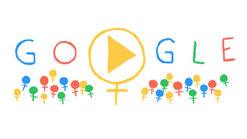 Дудл від Гугла - З Міжнародним жіночим днем