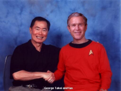 Hey, that guy looks familiar!  It's Sulu from Star Trek, silly!