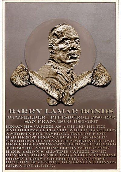 Barry Bonds's plaque