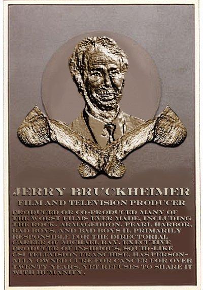 Jerry Bruckheimer's plaque