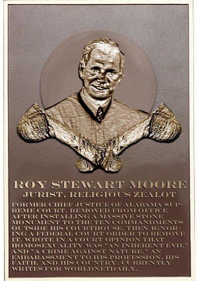 Roy Moore's plaque