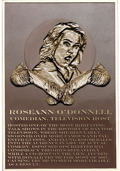 Rosie O'Donnell's plaque
