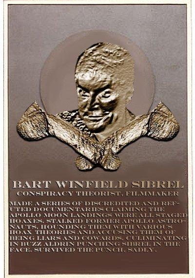 Bart Sibrel's plaque