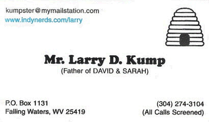 Larry Kump Business Card - Front