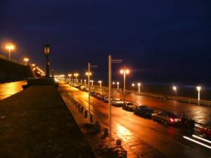 10641381_s Brighton Beach at night by Larissa Dening