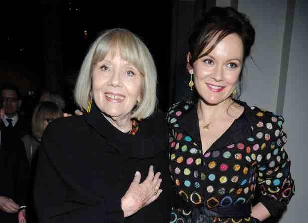 Rachael Stirling with her mother Dame Diana Rigg.jpg