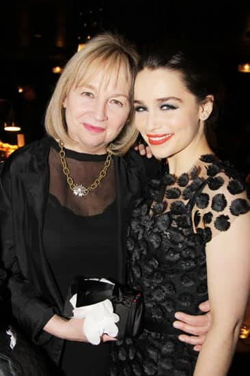 Emilia Clarke with her mother.jpg