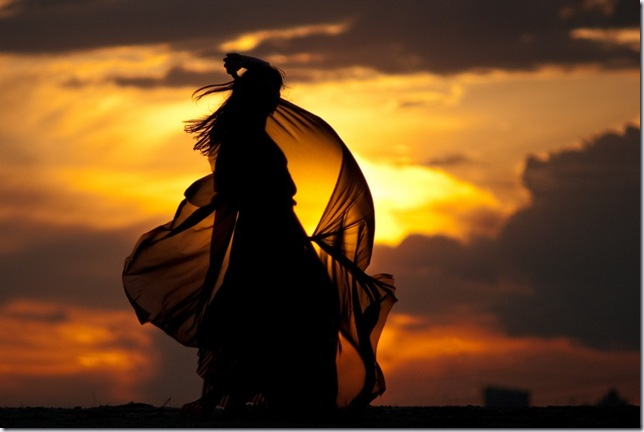 красивые фото девушек на закате