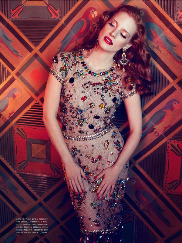 Jessica Chastain by Michelangelo di Battista (Lawless - Vogue Italia April 2012) 4