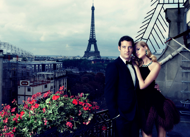 Toni Garrn & Clive Owen by Alexi Lubomirski (The Spy Who Loved Me - Vogue Spain October 2011) 1