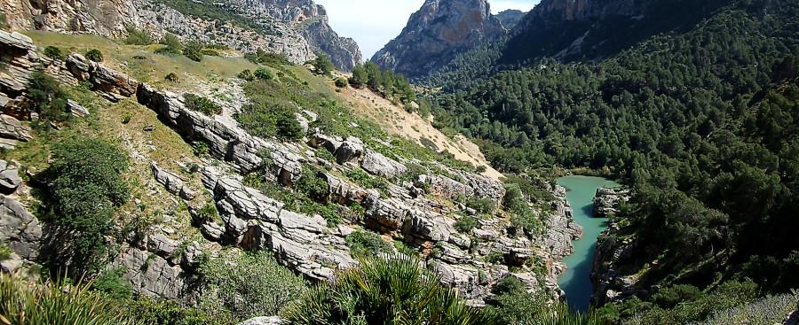 Долина в горах. Испания. Эль Чорро.