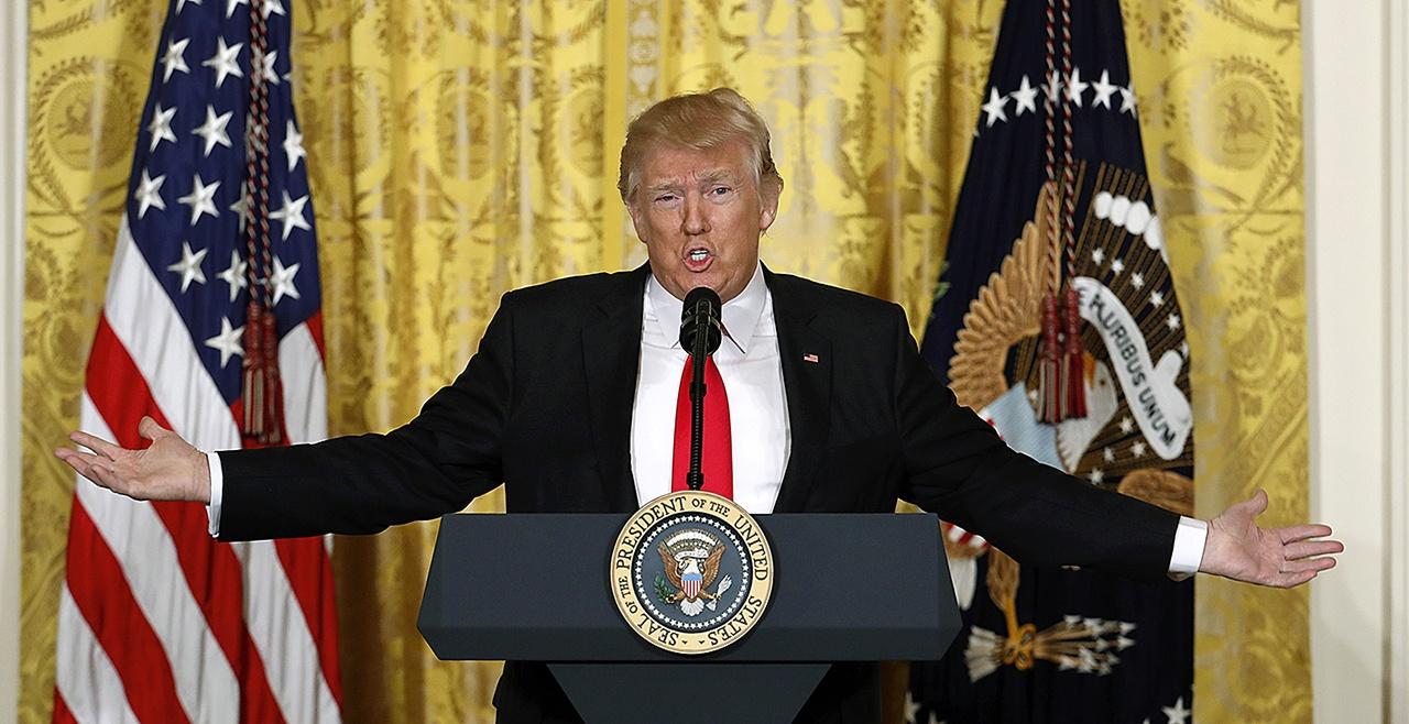 Пресс-конференция президента Трампа