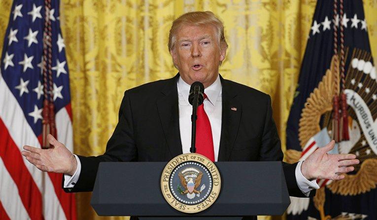Пресс-конференция президента Трампа2