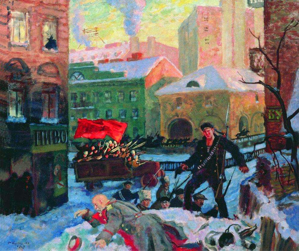 Ставка на сволочьBoris Kustodiev - October in Petrograd, 1927