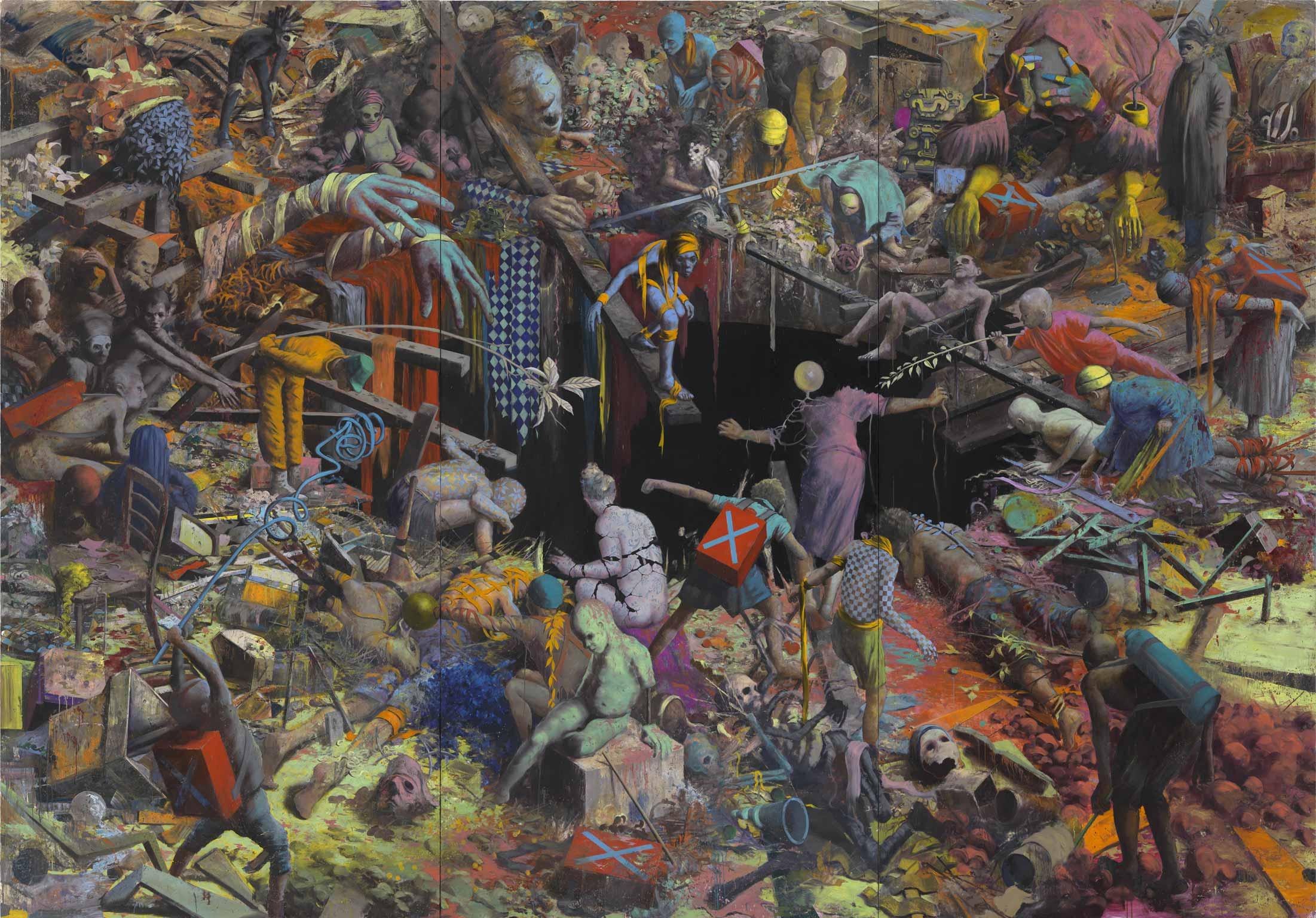 ПРЕДЧУВСТВИЕ ГРАЖДАНСКОЙ ВОЙНЫ Jonas-Burgert_Sinn-bleibt-Viech_2013_380x540cm_PC-Lepkowski-Studios