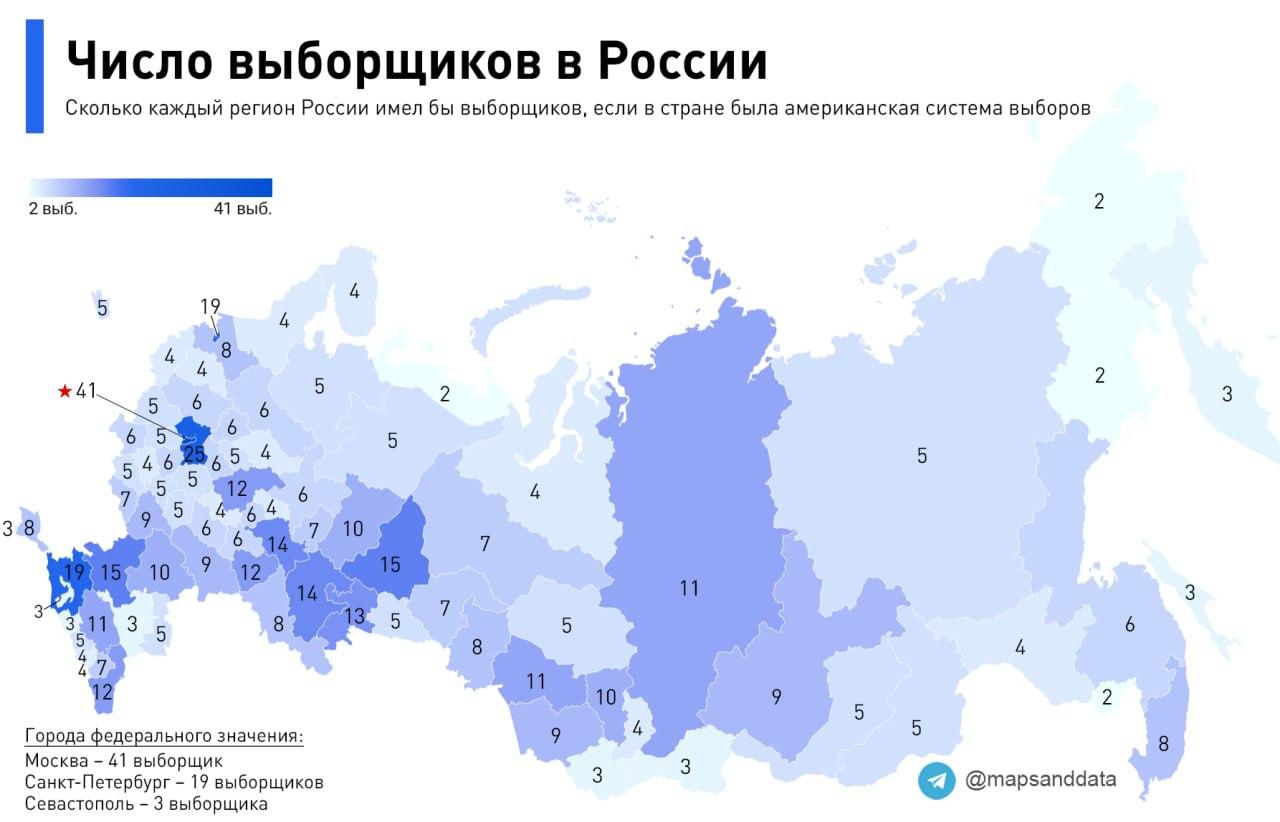 Число выборщиков в России