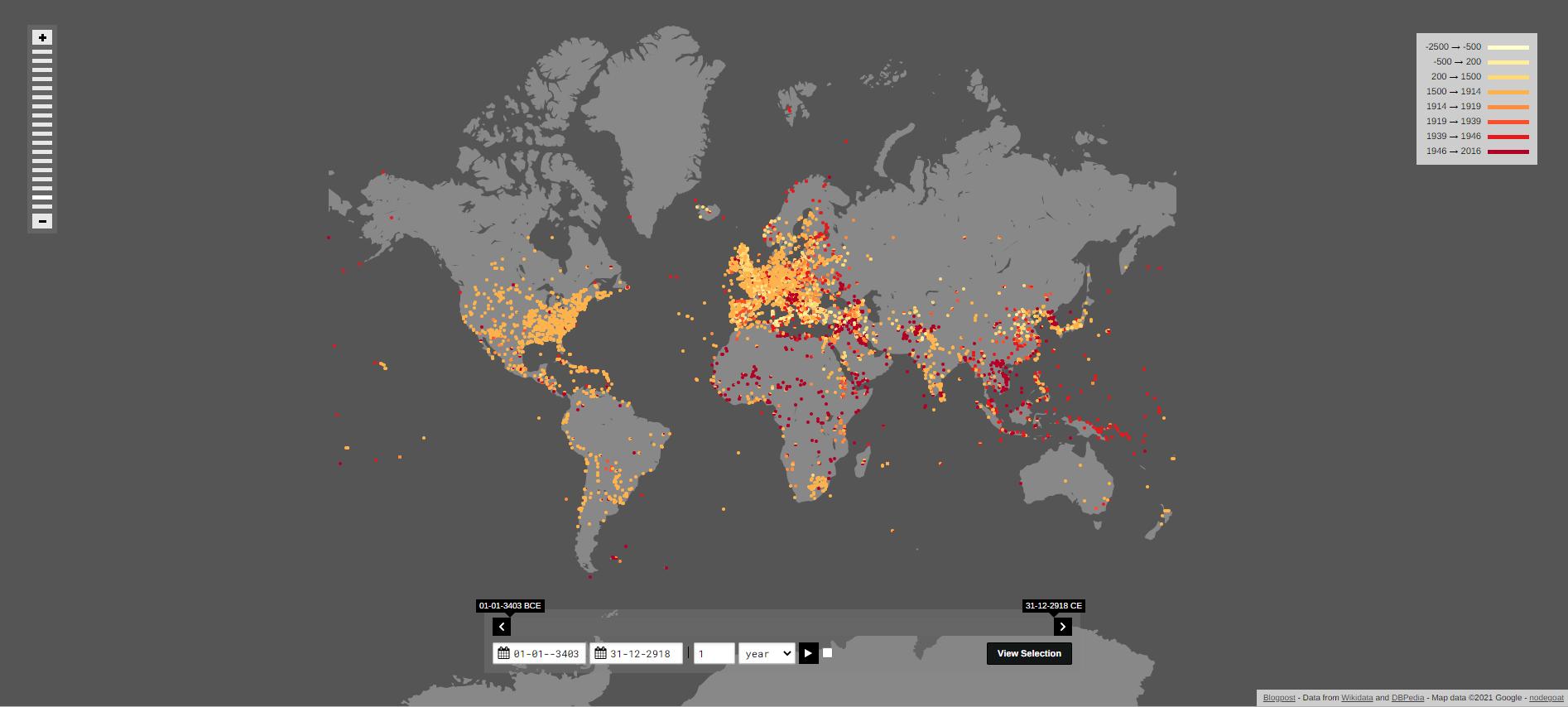 Карта сражений за тысячи лет