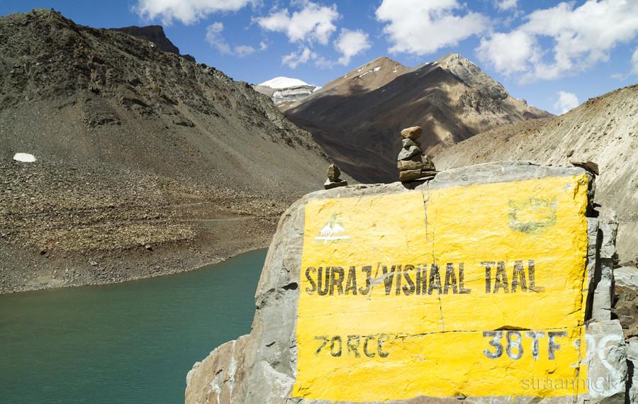 Озеро Бога Солнца, Suraj Taal. Гималаи, Индия. Himalayas, Himachal, India.