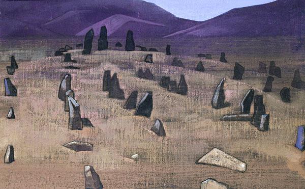 Н.К.Рерих. Доринг. Тибетский менгир [1928 г.]. Mystical experience