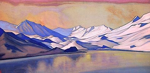 Н.К. Рерих.Горное озеро. Перевал Бара-Лача (Baralacha La, Himachal, India)