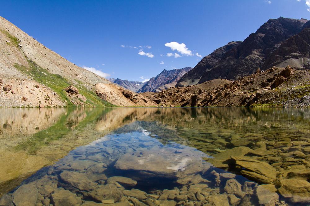 Mountain lake. Himalayas, North India. (Горное озеро. Гималаи, Северная Индия)