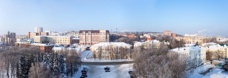 Панорама Пензы с колокольни Спасского кафедрального собора
