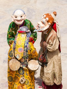 Religion. Cham Dance. Masked and costumed mystery dance of Tantric Buddhism. Dharmapalas, Bodhisattvas. Vajrayana. Маски танца Цам - сакральной костюмированной церемонии Тантрического буддизма. Ваджраяна