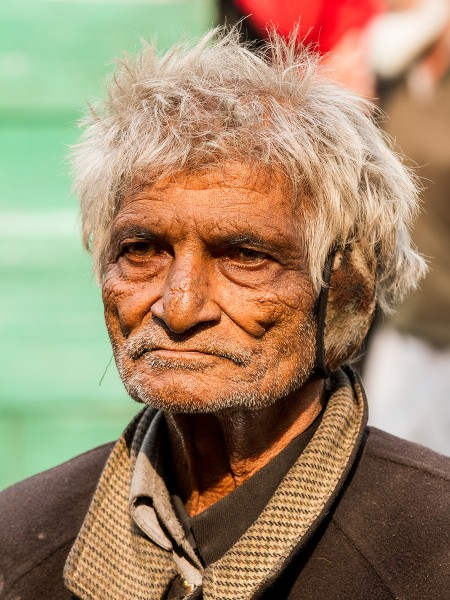 Портрет мужчины из старого Дели. Индия. (Portret of a man from old Delhi. India)