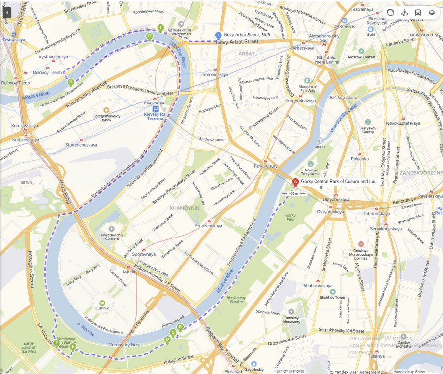 Велопутешествие, Москва, карта. Moscow map, bike trip