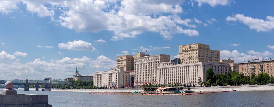 Russian Ministry of Defense, Moscow River, St. Andrew's Bridge, Министерство обороны России, Москва река, Андреевский мост