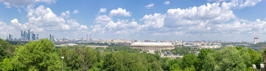 Moscow panorama, observation deck, Moscow State University, Vorobyovy Gory, Панорама Москвы, смотровая площадка, МГУ, Воробьёвы горы