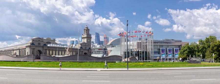 Kiev railway station, Freedom Square, Moscow City, Киевский железнодорожный вокзал, площадь Свободы, Москва-Сити
